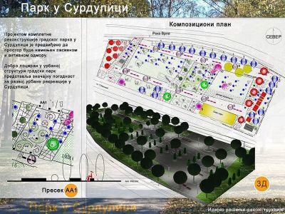 Градски парк в гр. Сурдулица, Сърбия - 1 - Проект - Правец Сурдулица